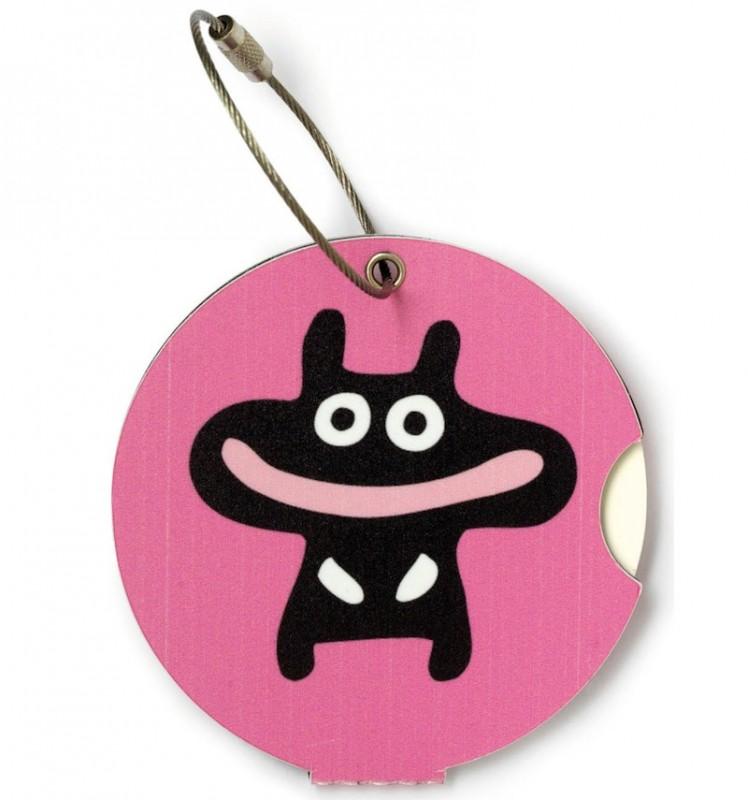 Addatag - Jmenovka na kufr - vzor Happy pink