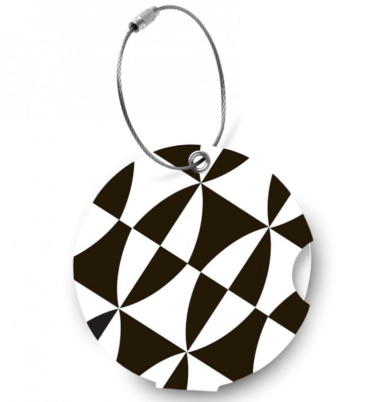 Addatag - Jmenovka na kufr - vzor Black and white