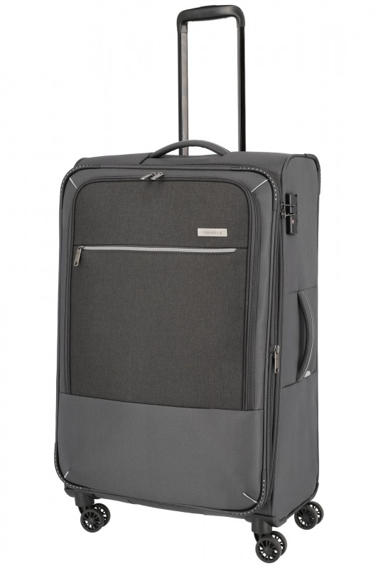Travelite ARONA Moderní textilní kufr 77cm (Anthracite)