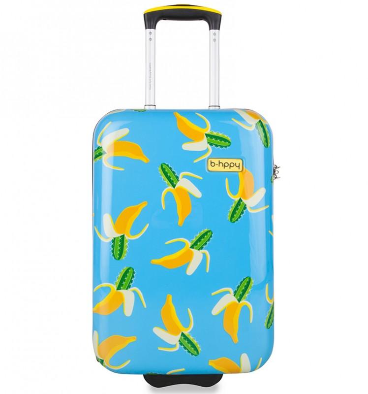 B.HPPY Designový kabinový kufr 52cm - Bananauwch