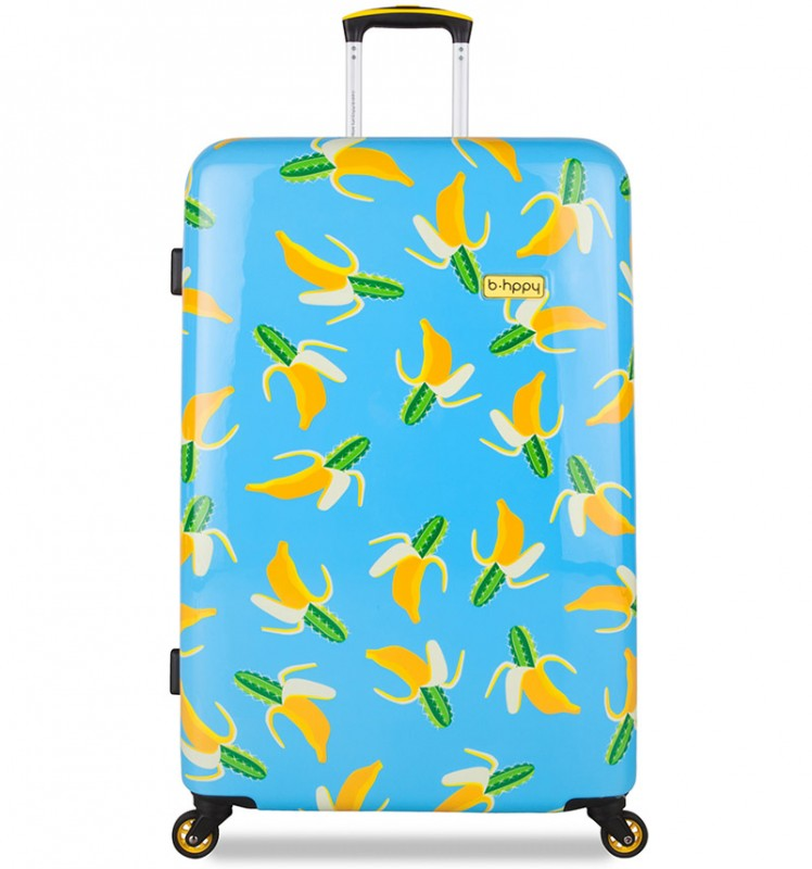 B.HPPY Designový kufr 77cm - Bananauwch