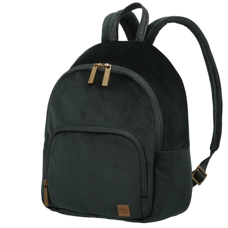 Titan BARBARA VELVET Dámský batoh v imitaci sametu 31cm, 8 litrů(Forest Green)