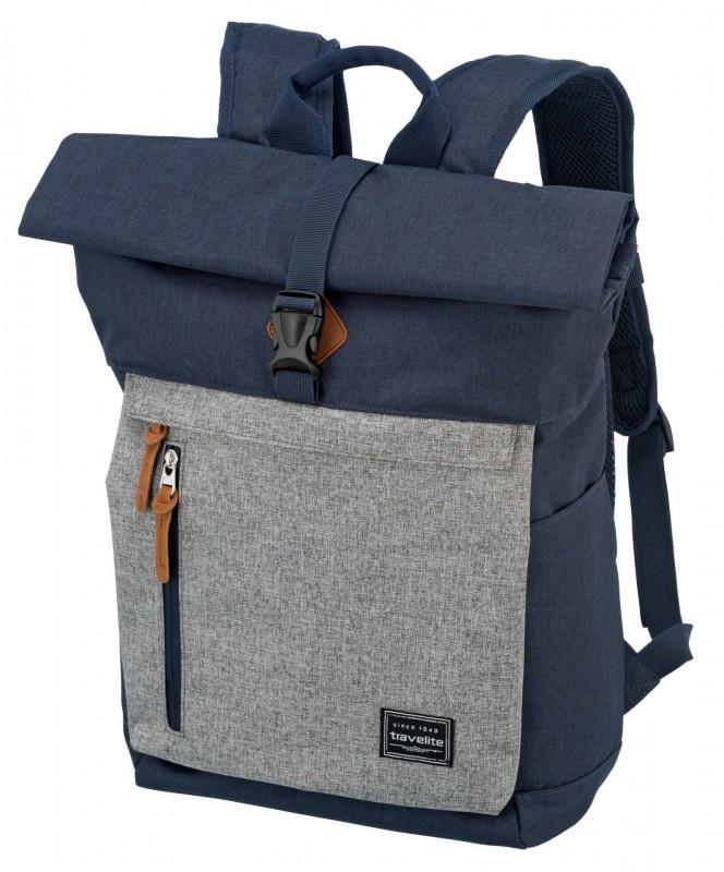 Travelite BASICS Roll-up městský batoh 35 l (Navy/Grey)