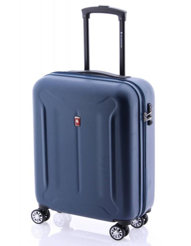 Gladiator BEETLE Jednoduchý palubní kufr z ABS 55cm (Blue)