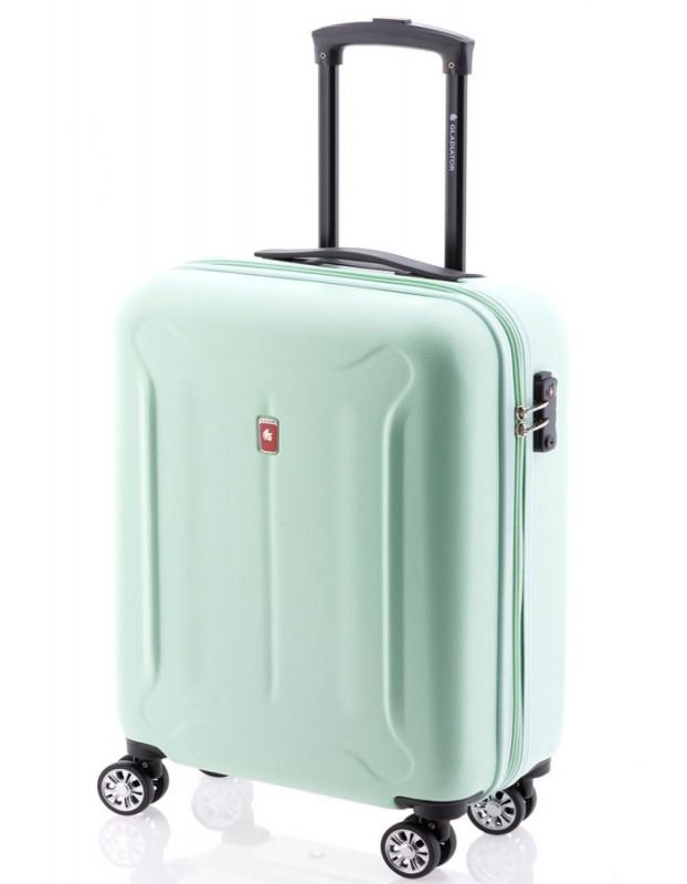 Gladiator BEETLE Jednoduchý palubní kufr z ABS 55cm (Green Mint)