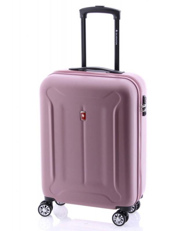 Gladiator BEETLE Jednoduchý palubní kufr z ABS 55cm (Pink)