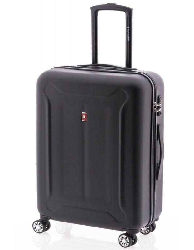 Gladiator BEETLE Skořepinový kufr z ABS 68cm (Black)