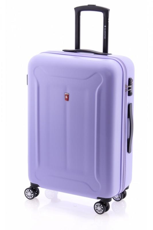 Gladiator BEETLE Skořepinový kufr z ABS 68cm (Violet)