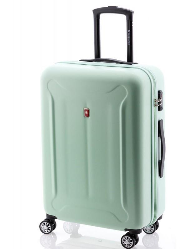 Gladiator BEETLE Skořepinový kufr z ABS 68cm (Green Mint)