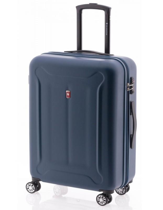 Gladiator BEETLE Skořepinový kufr z ABS 68cm (Blue)