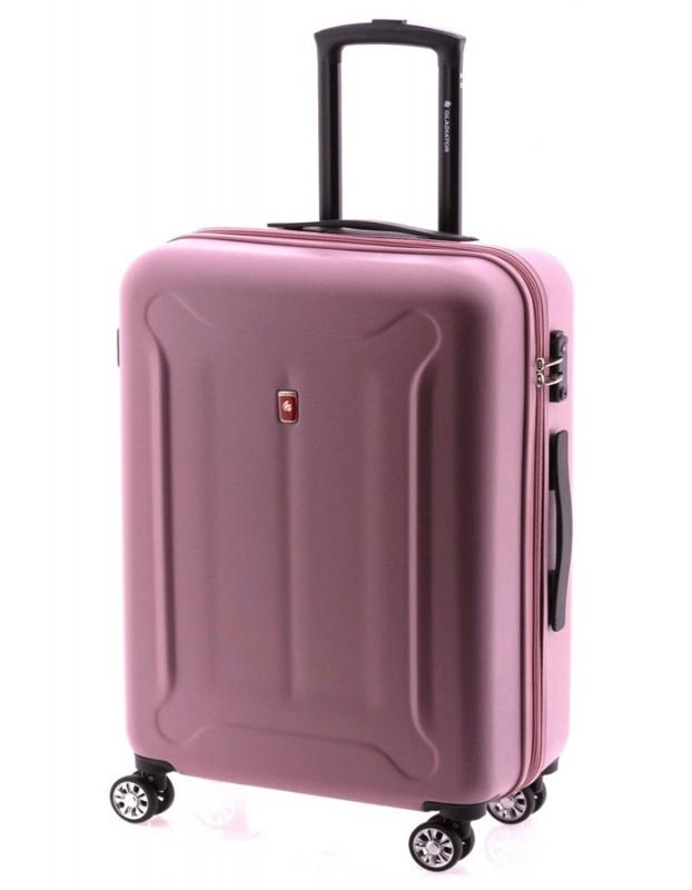 Gladiator BEETLE Skořepinový kufr z ABS 68cm (Pink)
