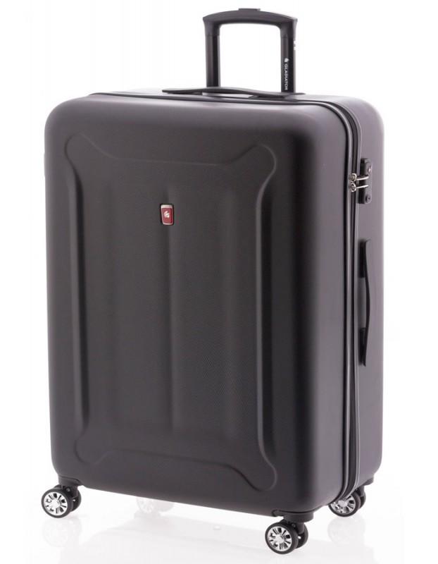 Gladiator BEETLE Velký skořepinový kufr z ABS 78cm (Black)