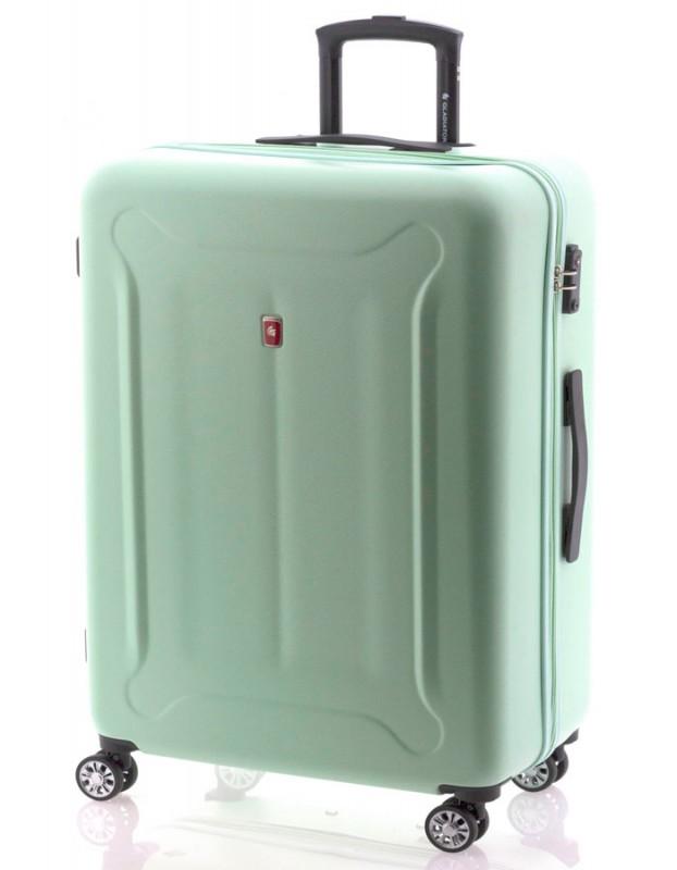 Gladiator BEETLE Velký skořepinový kufr z ABS 78cm (Green Mint)