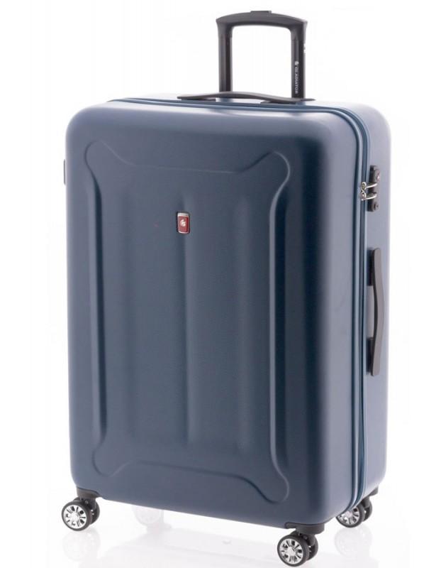 Gladiator BEETLE Velký skořepinový kufr z ABS 78cm (Blue)