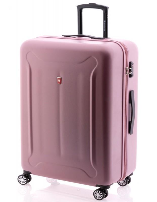 Gladiator BEETLE Velký skořepinový kufr z ABS 78cm (Pink)
