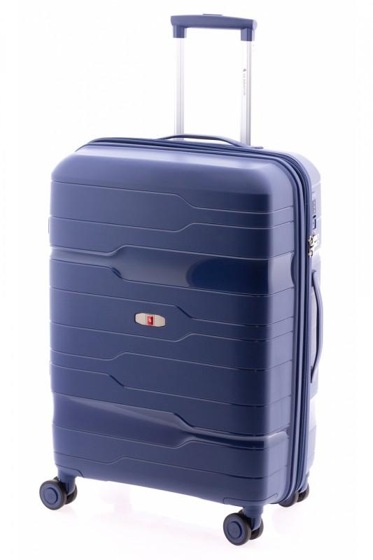Gladiator BOXING Rozšířitelný odolný plastový kufr 67cm (Navy Blue)