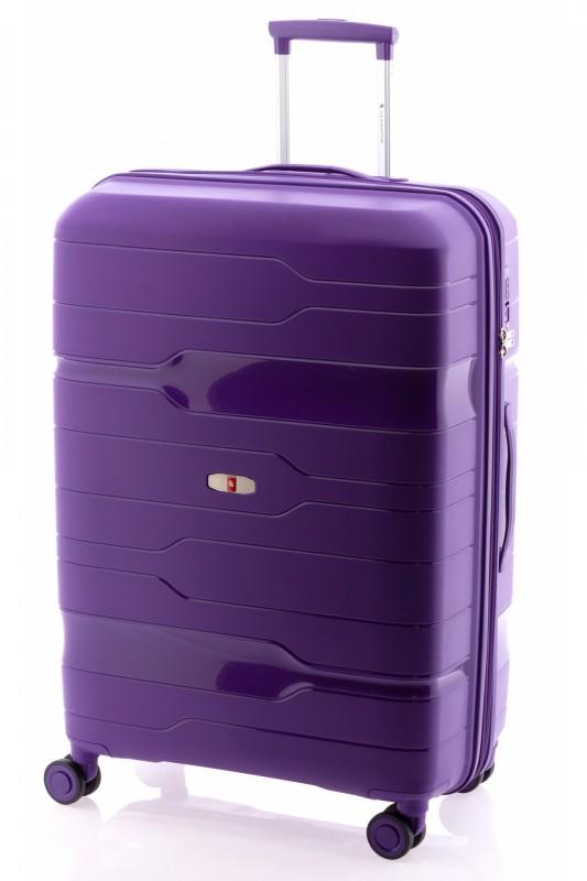 Gladiator BOXING Velký rozšířitelný plastový kufr 77cm (Violet)