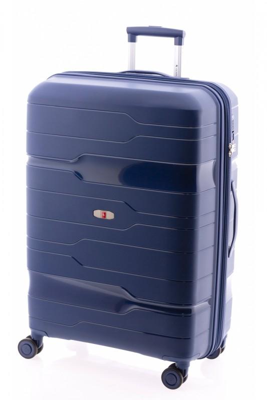 Gladiator BOXING Velký rozšířitelný plastový kufr 77cm (Navy Blue)