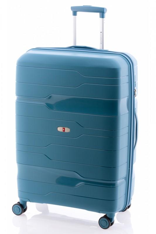 Gladiator BOXING Velký rozšířitelný plastový kufr 77cm (Bondi Blue)