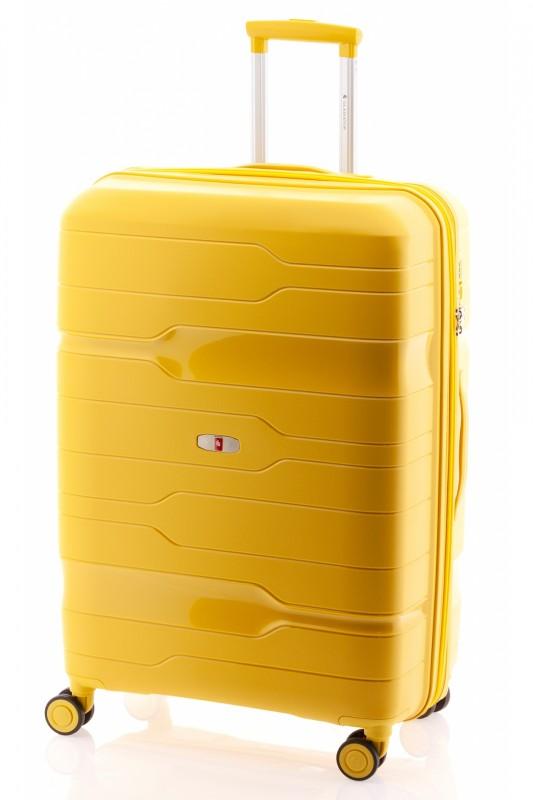 Gladiator BOXING Velký rozšířitelný plastový kufr 77cm (Yellow)