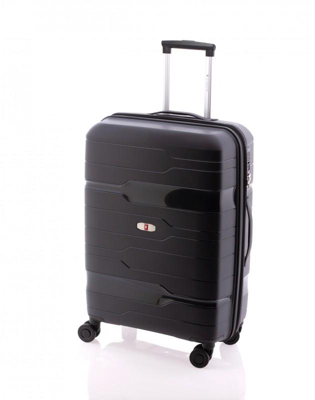 Gladiator BOXING Rozšířitelný odolný plastový kufr 67cm (Black)