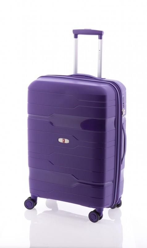 Gladiator BOXING Rozšířitelný odolný plastový kufr 67cm (Violet)
