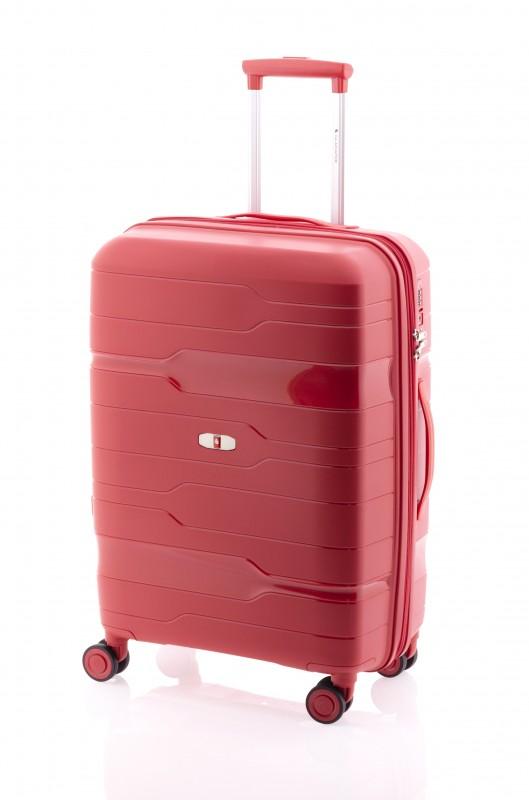 Gladiator BOXING Rozšířitelný odolný plastový kufr 67cm (Red Crimson)