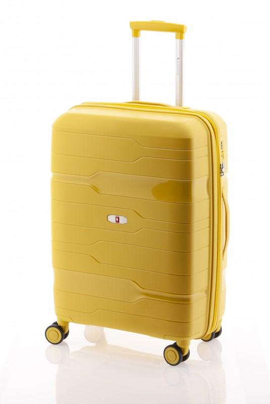 Gladiator BOXING Rozšířitelný odolný plastový kufr 67cm (Yellow)
