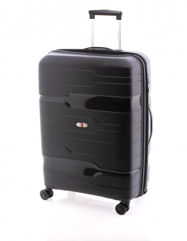 Gladiator BOXING Velký rozšířitelný plastový kufr 77cm (Black)