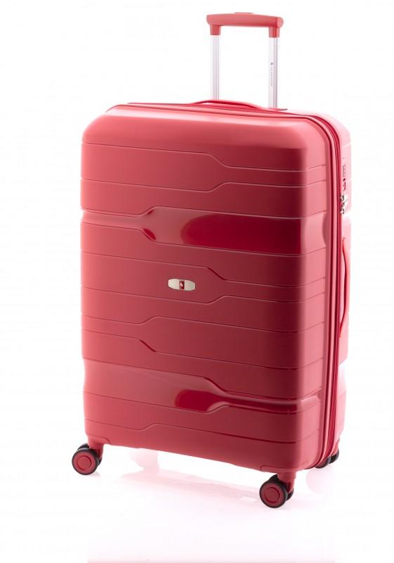 Gladiator BOXING Velký rozšířitelný plastový kufr 77cm (Red Crimson)