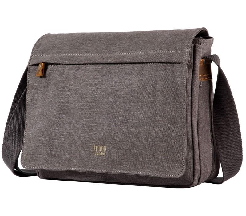 Troop London TRP0240 Rozšířitelná taška na notebook 15,6 - Charcoal