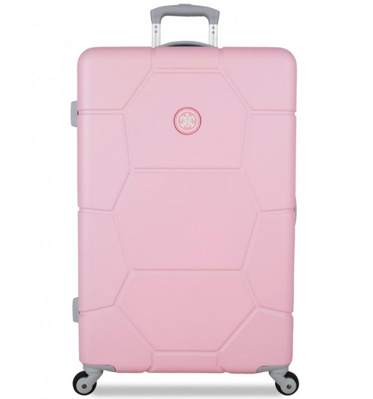 SuitSuit CARETTA Velký cestovní kufr z ABS 75 cm (Pink Lady)