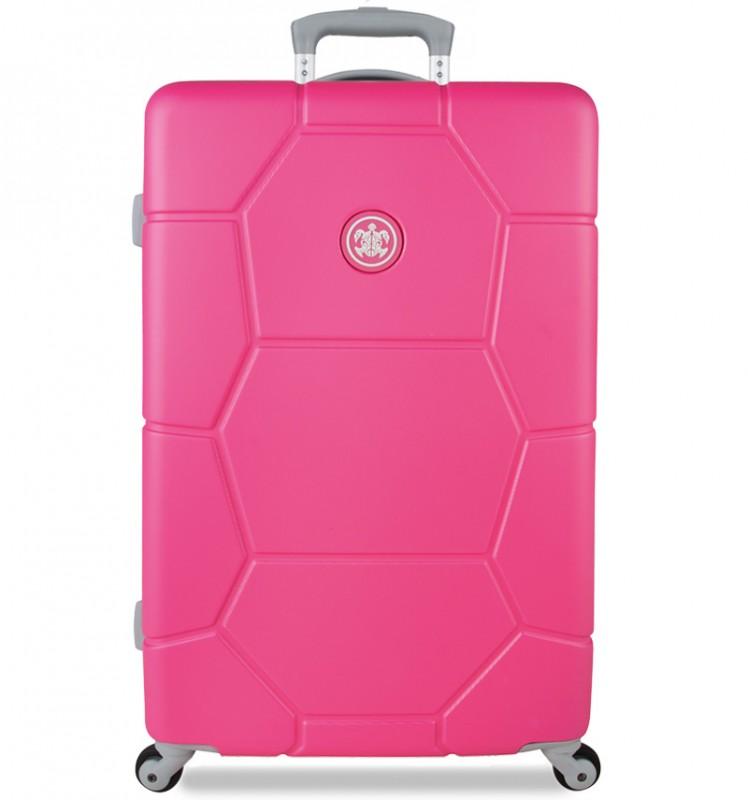 SuitSuit CARETTA Velký cestovní kufr z ABS 75 cm (Shocking Pink)
