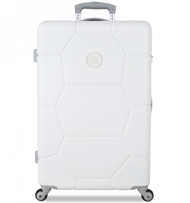 SuitSuit CARETTA Cestovní kufr z ABS 65 cm (Sea Shell White)