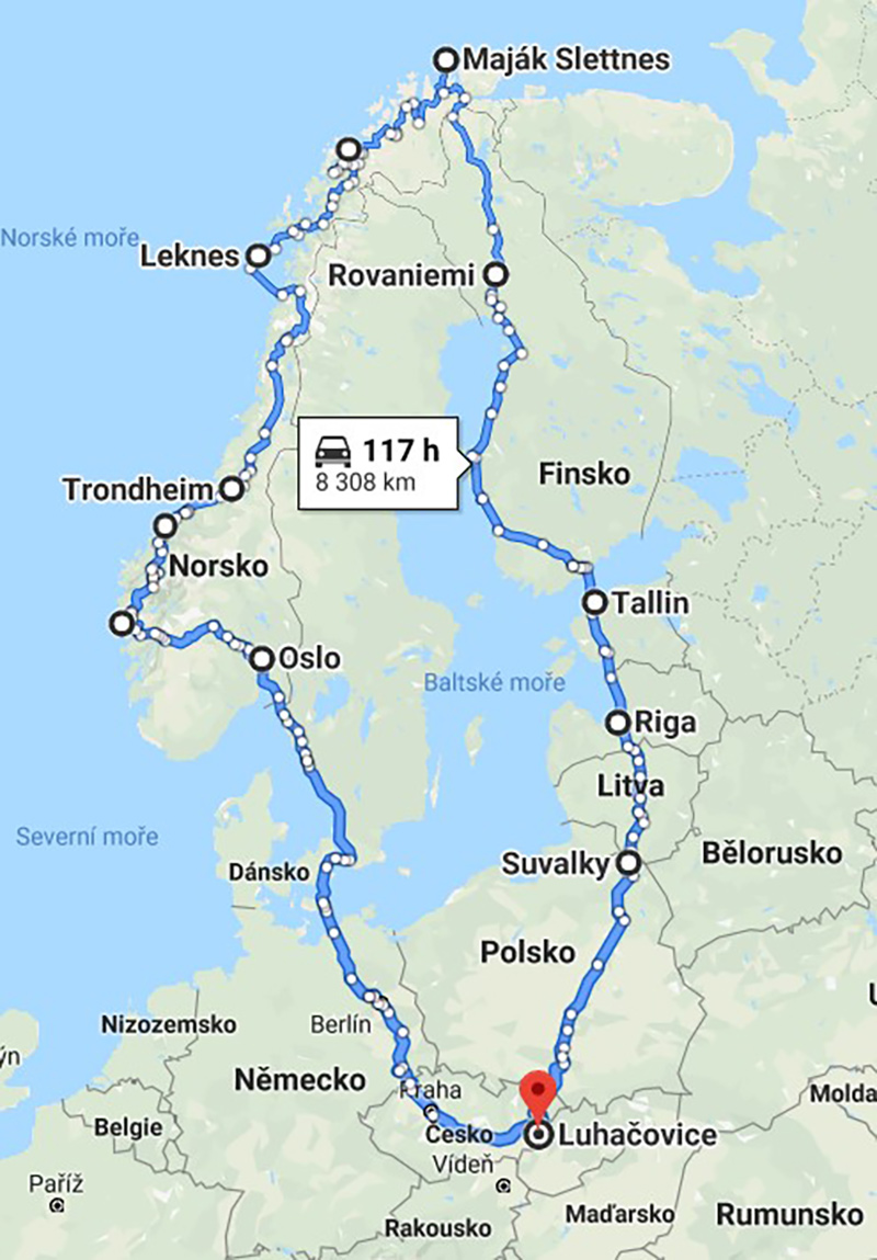 Cesta po Skandinávii