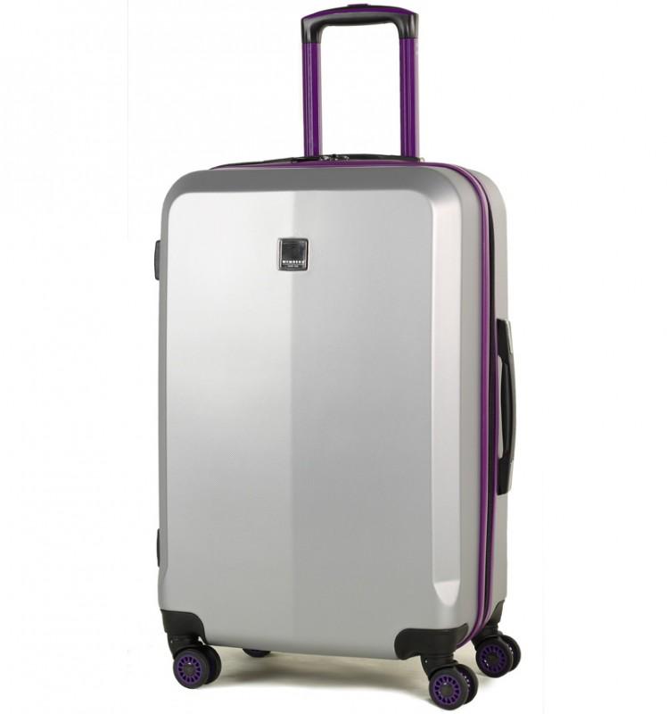 Member´s ONYX Střední cestovní kufr z ABS 67cm (Stříbrná/fialová)