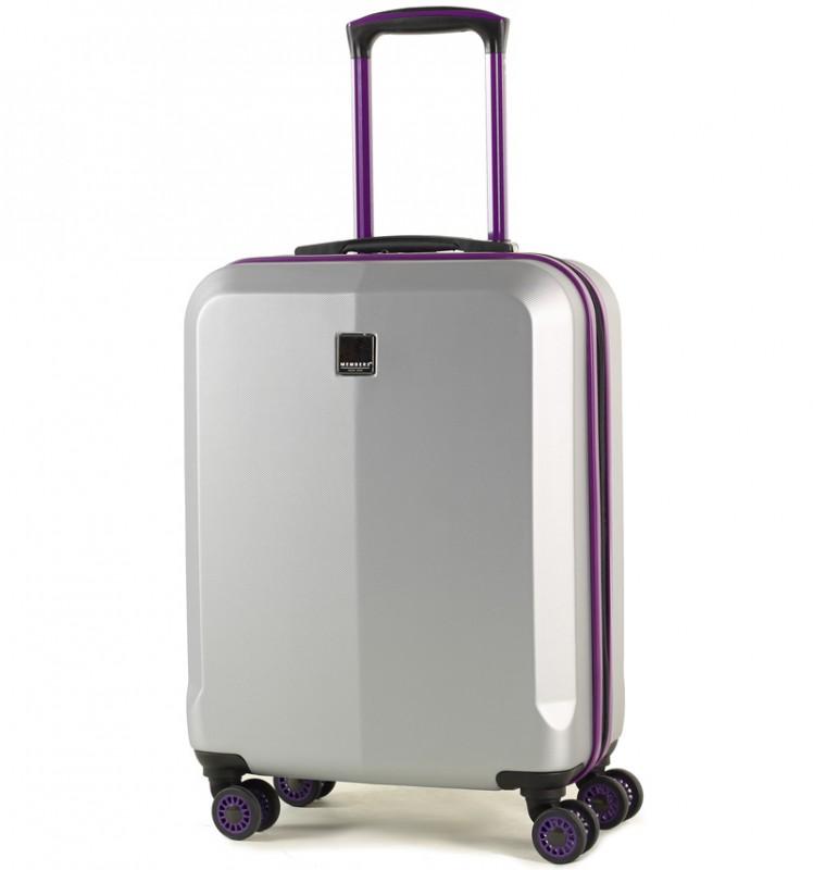 Member´s ONYX Kabinové zavazadlo z ABS 55cm (Stříbrná/fialová)
