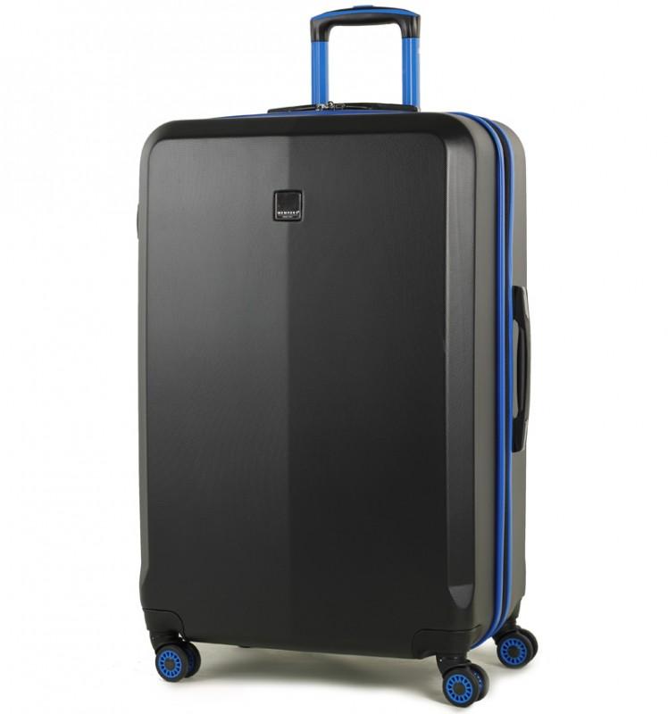 Member´s ONYX Velký cestovní kufr z ABS 77cm (Černá/modrá)