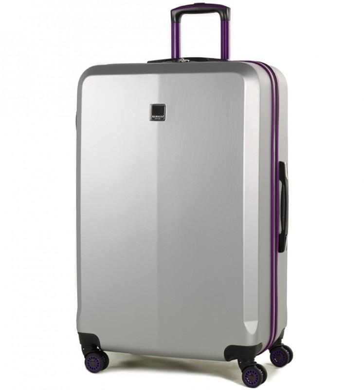Member´s ONYX Velký cestovní kufr z ABS 77cm (Stříbrná/fialová)