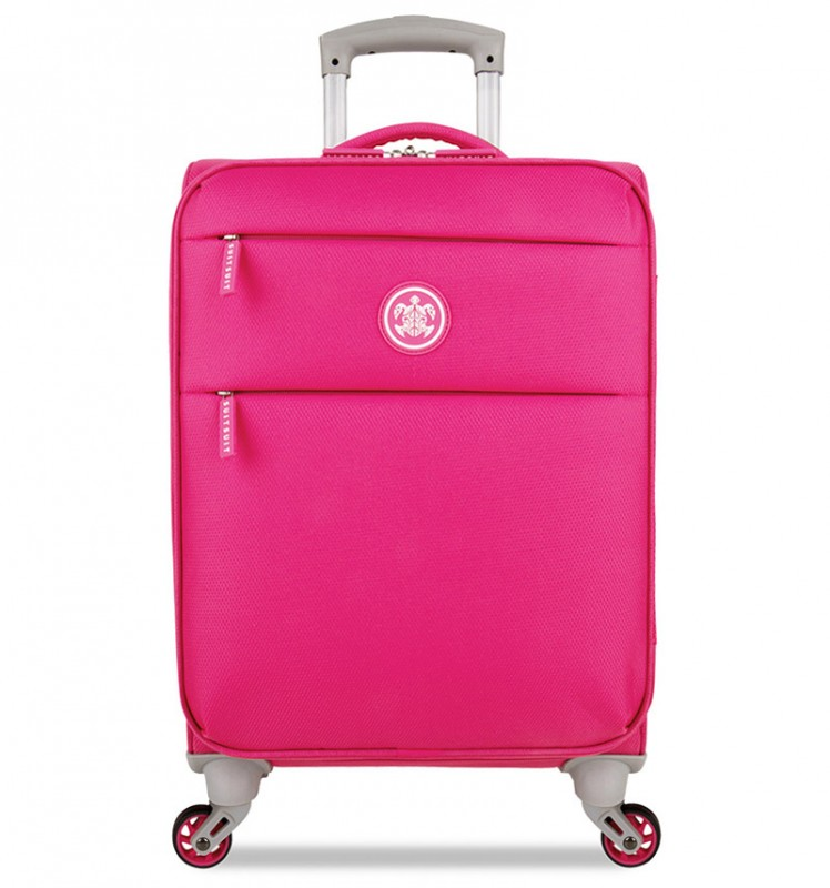 SuitSuit CARETTA SOFT Kabinový kufr 55 cm - Hot Pink