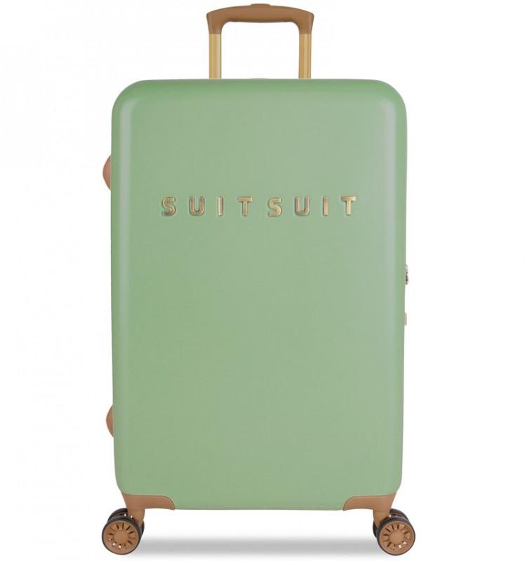 SuitSuit FAB SEVENTIES Velký cestovní kufr 67cm - Basil Green