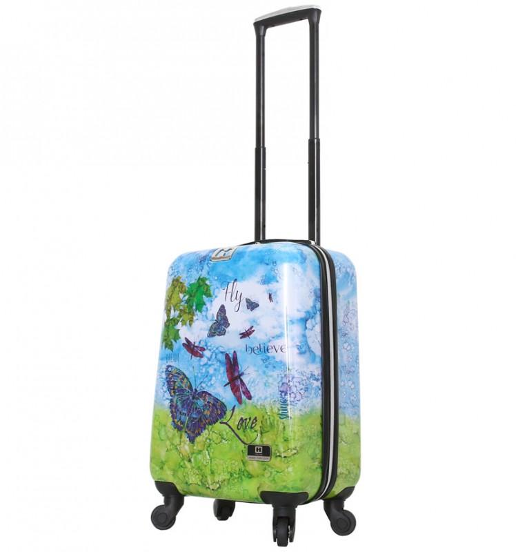 Mia Toro HALINA Romantický kabinový kufr 56 cm