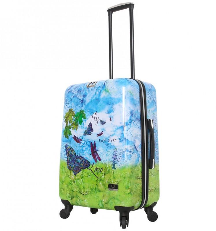 Mia Toro HALINA Romantický cestovní kufr 66 cm