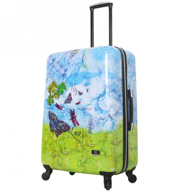 Mia Toro HALINA Romantický cestovní kufr 76 cm