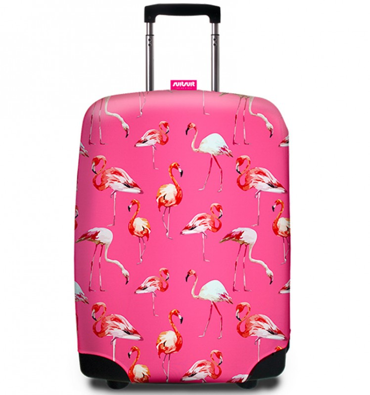 SuitSuit - Obal na kufr - vzor Flamingo