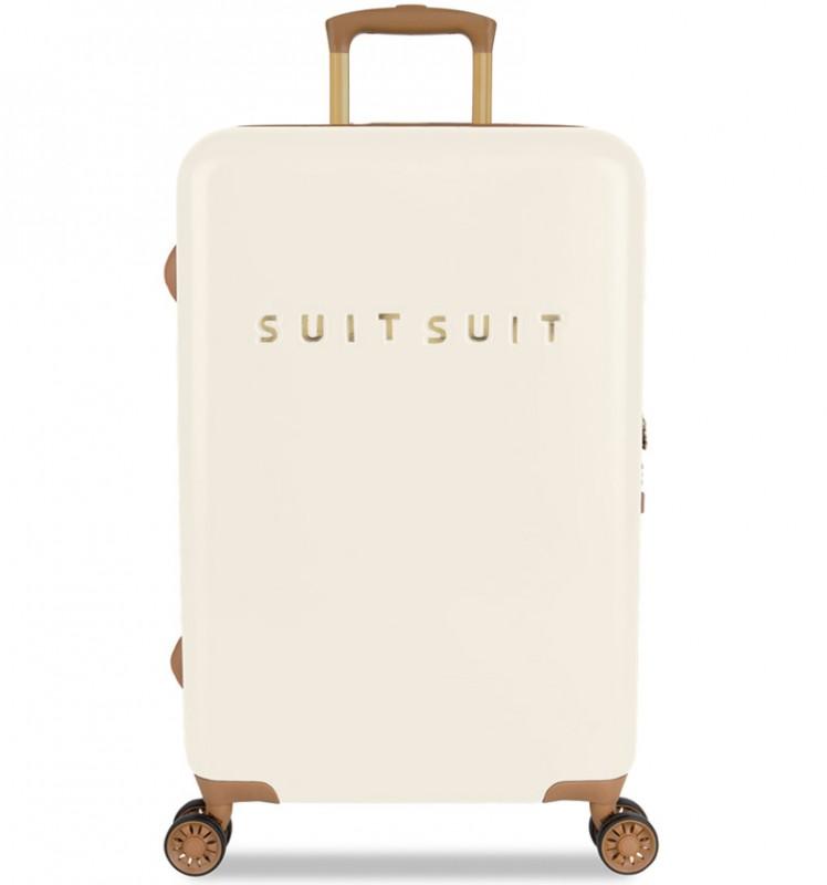 SuitSuit FAB SEVENTIES Velký cestovní kufr 67cm - Antique White