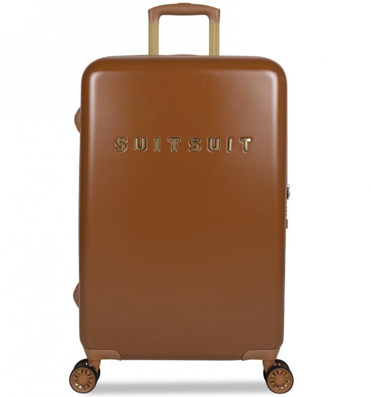 SuitSuit FAB SEVENTIES Velký cestovní kufr 67cm - Leather Brown