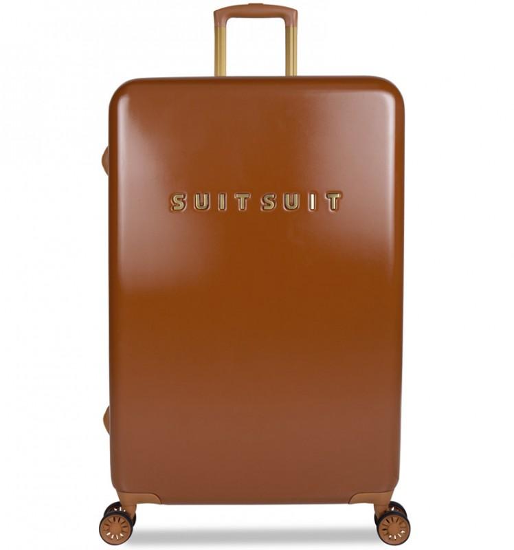 SuitSuit FAB SEVENTIES Velký cestovní kufr 77cm - Leather Brown