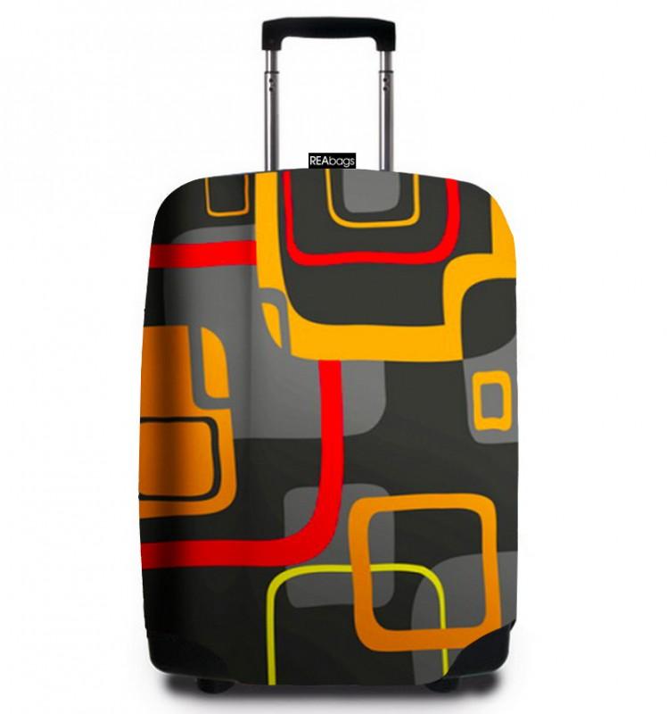 SuitSuit - Obal na kufr - vzor Modern Retro