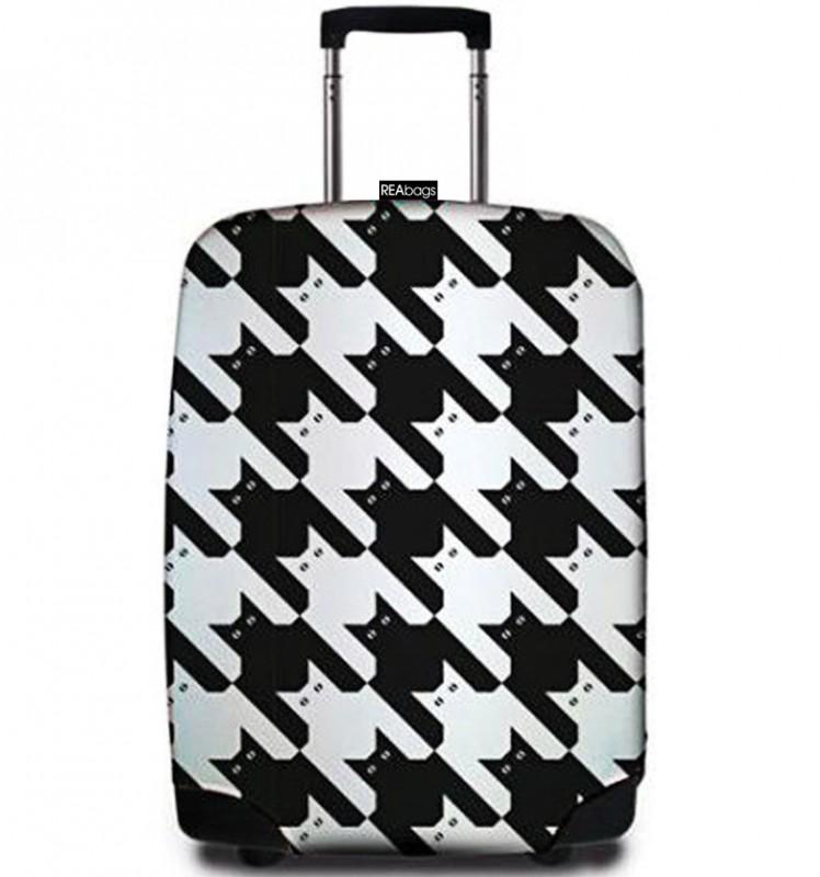 SuitSuit - Obal na kufr - vzor Pied de Chat